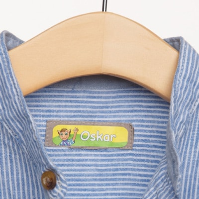 Iron-on name labels for clothing