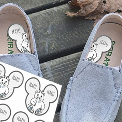 Shoe labels for kids shoes